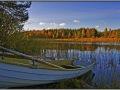 Finland, Pyhalto, Korppisenjarvi lake