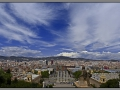 Barcelona, panorama, view from MNAC