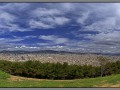 Barcelona, panorama, view from Montjuic