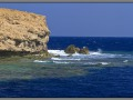 Egypt, Red Sea, Zabargad reef, Rocky island