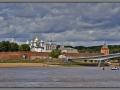 Russia, Novgorod Kremlin (Detinets) - view from river Volkhov
