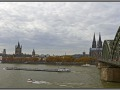 Germany, Cologne citiy view from railway bridge