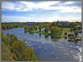 Narova river, view from Ivangorod