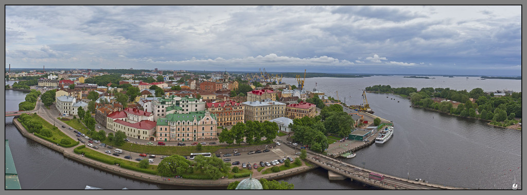 Vyborg, view from castle tower