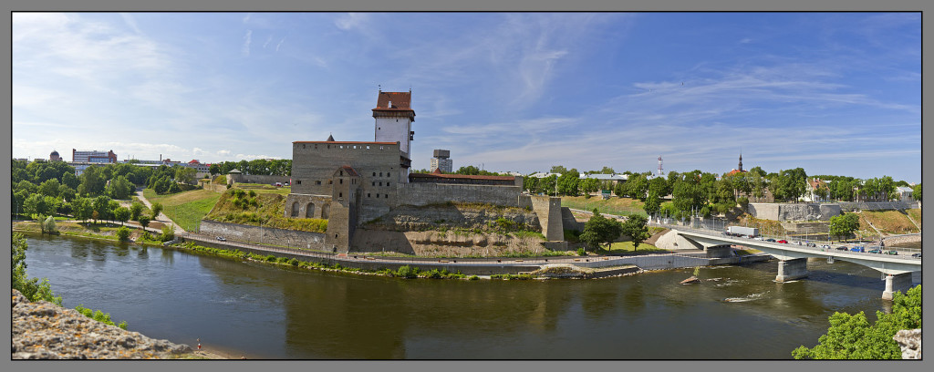 Narva castle, view from Ivangorod