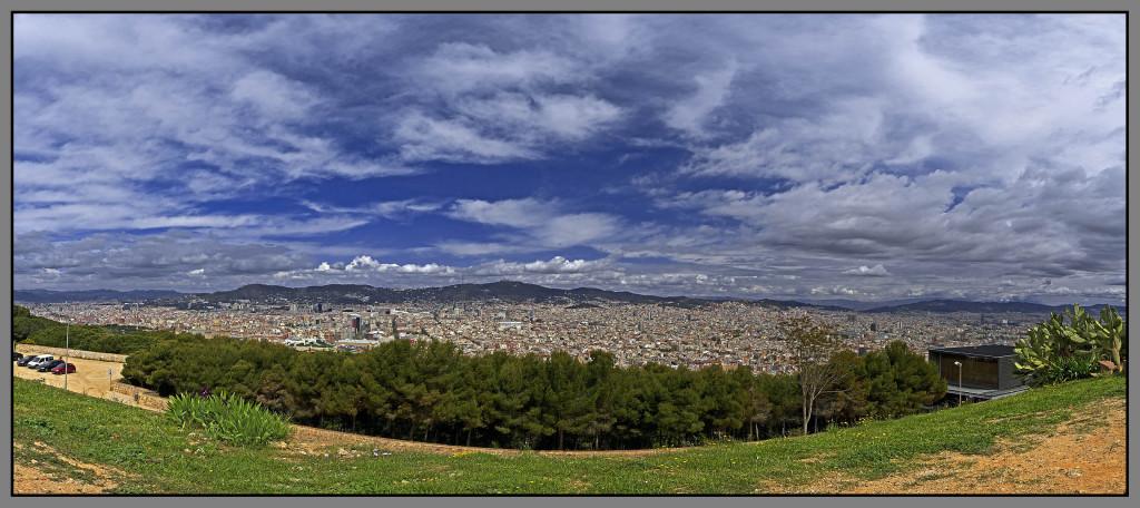 Barcelona, panprama, view from Montjuic